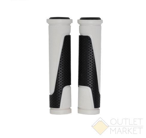 Грипсы H305 резиновые 130мм черно-белые