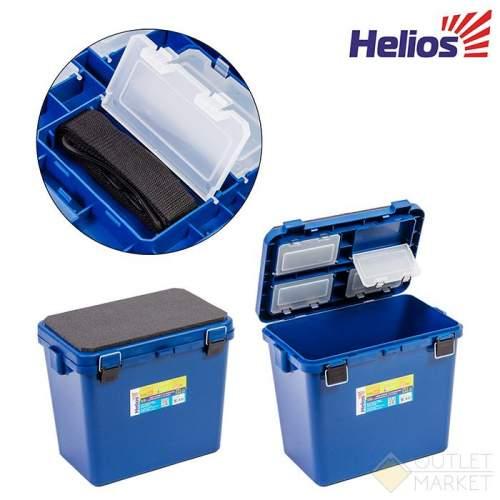 Ящик-М зимний Тонар Helios синий односекционный