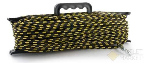 Шнур Akara якорный плетеный ПЭ с карабином на мотовиле Арт: CY8-20