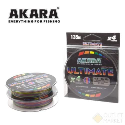 Шнур Akara Ultimate X-4 Multicolor 135 м