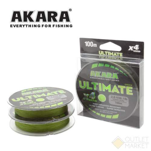 Шнур Akara Ultimate X-4 Green 100 м