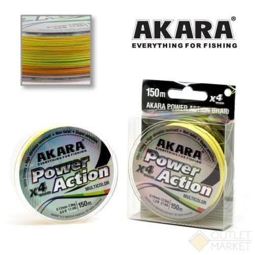 Шнур Akara Power Action X-4 Multicolor 150 м
