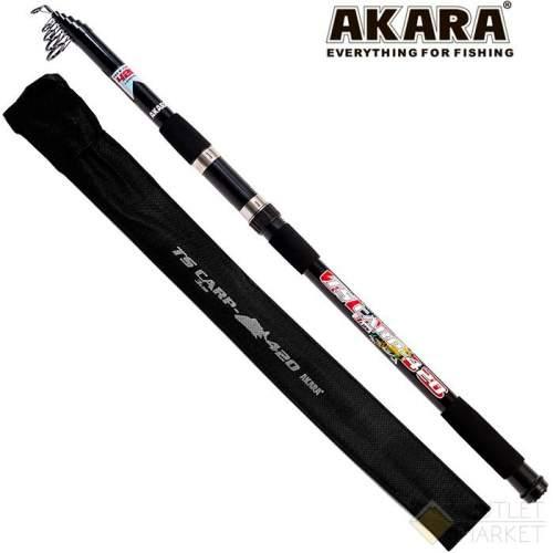 Удилище телескопическое стекло карповое Akara TS Carp 3Lbs 4,2 м Арт: AKTSC-420