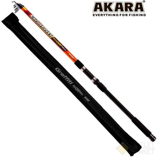 Удилище телескопическое стекло карповое Akara Graffiti Tele Carp 4,2 м Арт: AKGTC-420