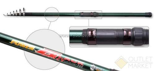Удилище телескоп стекло д/с Akara Power Black Арт: POW-BL-600