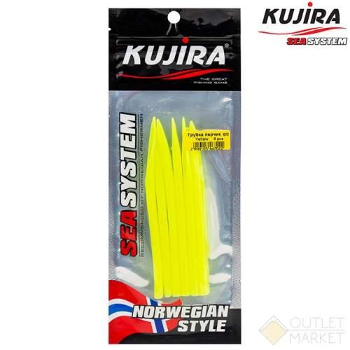 Трубка перчик Kujira G-Makk для крючков 8/0 Yellow (6 шт) Арт: TP-MK-8/0Y-F6