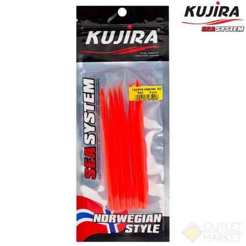 Трубка перчик Kujira G-Makk для крючков 8/0 Red (6 шт) Арт: TP-MK-8/0R-F6