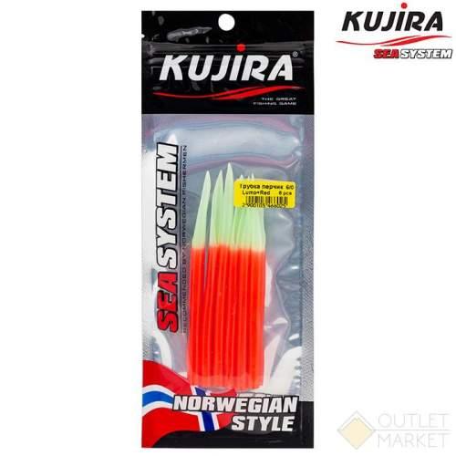 Трубка перчик Kujira G-Makk для крючков 6/0 Lumo+Red (6 шт) Арт: TP-MK-6/0LR-F6