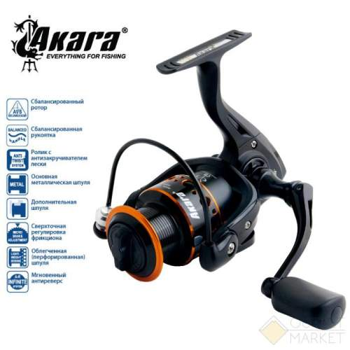 Катушка безынерционная Akara Black Hunter BHF Арт: BHF2000-10