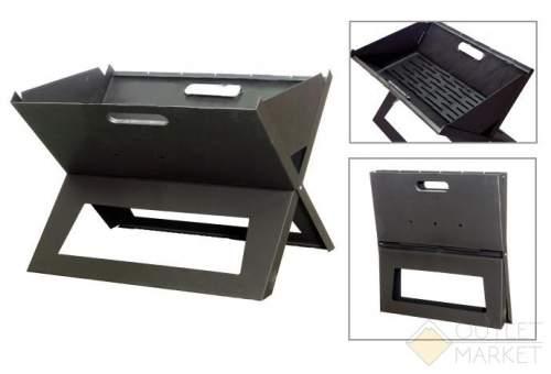 Мангал-ноутбук МН-505 34х45х32 см с шампурами