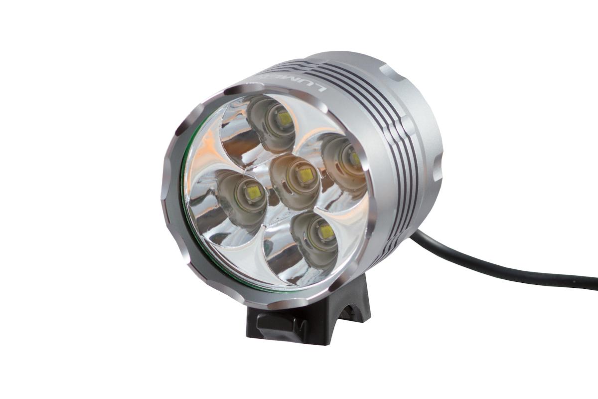 Фонарь передний Lumen 305 6000 lumens 5 Cree XML-T6 15 серый EBL15-305
