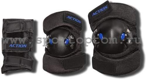 Защита роликовая тройная Чулок ACTION 305-PW S