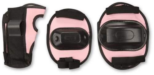 Защита роликовая тройная детская в сетке А034 Розовый