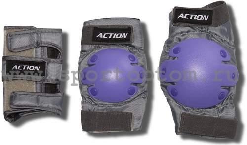 Защита роликовая тройная Чулок ACTION 302-PW L