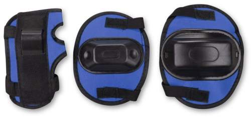 Защита роликовая тройная детская в сетке А034 Синий