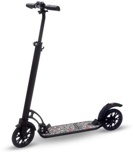 Самокат взрослый INDIGO CITY до 100 кг, колеса 200 мм IN051 Черный