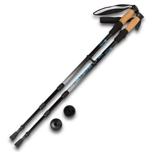 Палки для скандинавской ходьбы телескопические INDIGO 008 IRAK 65-135 см Серебристо-черный