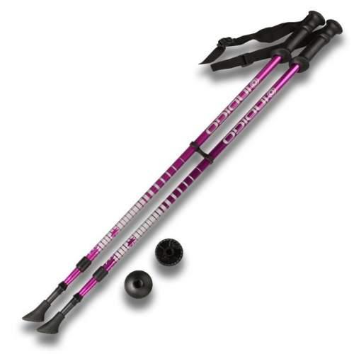 Палки для скандинавской ходьбы телескопические INDIGO SL-1-2 85-135 см Фиолетовый