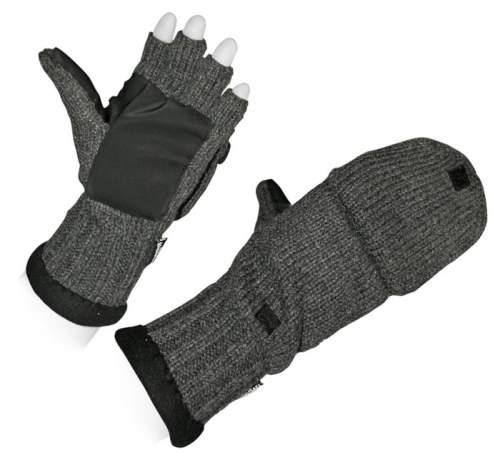 Рукавицы-перчатки (вяз, шер, флис подклад) 5215А S Серый