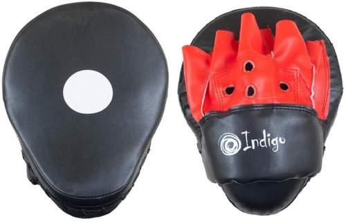 Лапа боксерская изогнутая INDIGO PU (пара) PS-903 26*20*9 см Черно-красный