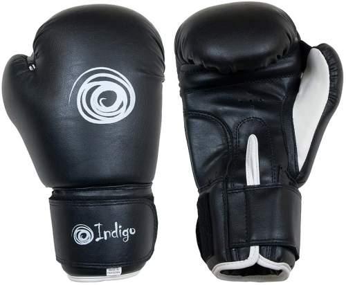 Перчатки боксёрские INDIGO PU PS-790 10 унций Черный