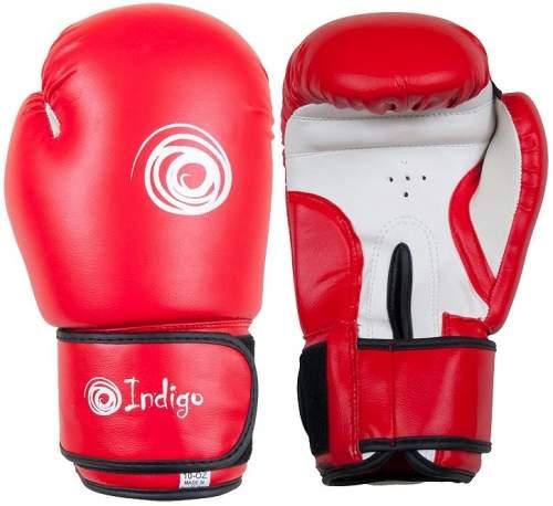 Перчатки боксерские INDIGO PS-799 10 унций Красный