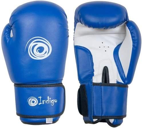 Перчатки боксерские INDIGO PS-799 12 унций Синий