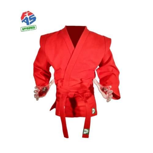 Куртка для Самбо Green Hill Мастер FIAS Approved х/б 100%, 550г/м2 SC-550 40/150 Красный
