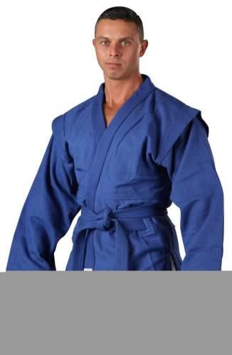Куртка для Самбо хлопок 100%, 530-580 г/м2 RA-006 34 Синий
