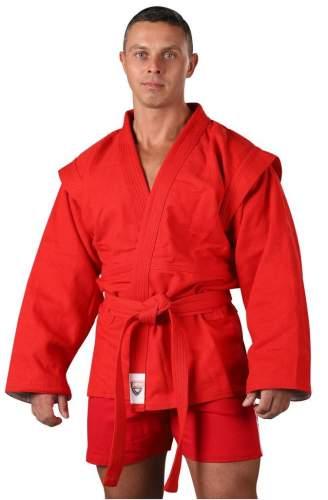 Куртка для Самбо хлопок 100%, 530-580 г/м2 RA-005 34 Красный