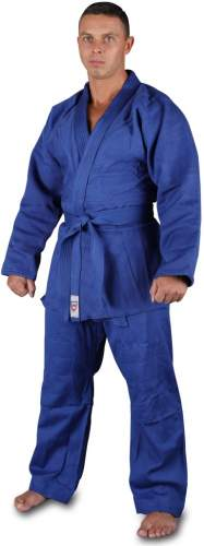 Кимоно дзюдо хлопок куртка 600-650г/м2,брюки 280-320г/м2 RA-002 44-46/175 Синий