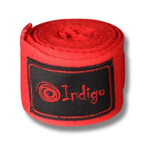 Бинт боксёрский INDIGO х/б, нейлон 1115 4,0 м Красный