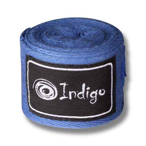 Бинт боксёрский INDIGO х/б, нейлон 1115 2,5 м Синий