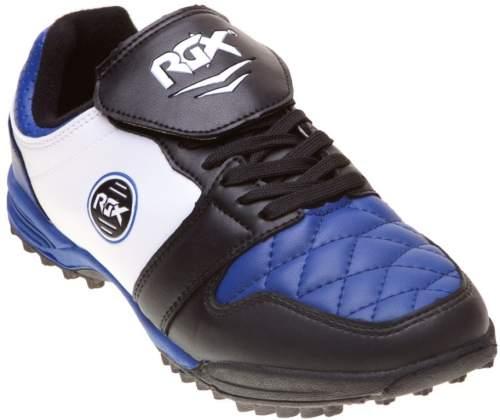 Бутсы футбольные шипованные RGX (сороконожки) 011 37 Черно-сине-белый