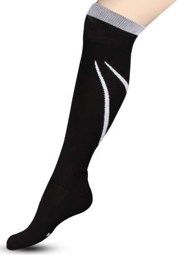 Гетры футбольные с рисунком, уплотнением и сеткой на стопе INDIGO Спорт 3-1 35-37 Черный