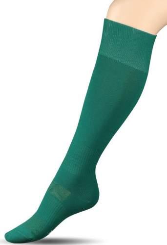 Гетры футбольные с уплотнением и сеткой на стопе INDIGO Спорт 3 35-37 Зеленый