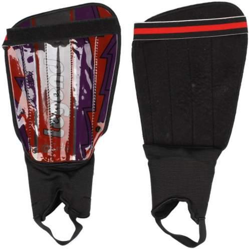 Щитки футбольные INDIGO с защитой щиколотки 1512 M-L Фиолетово-оранжевый