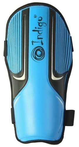 Щитки футбольные INDIGO с ламинированным покрытием 400004 XL Голубо-черный