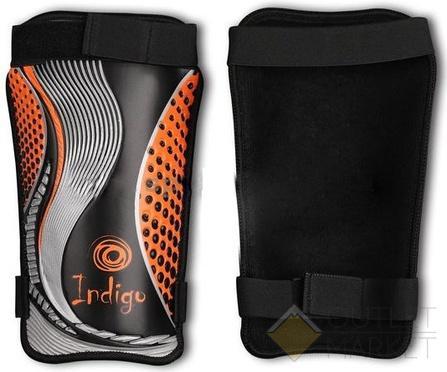 Щитки футбольные INDIGO с ламинированным покрытием 1253 Черно-оранжевый