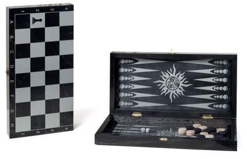 Игра 2 в 1 деревянная Классика (нарды,шашки) 088-12 40*40 см Черный