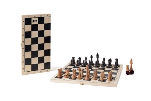 Шахматы турнирные фигуры буковые малые с доской 337-19 40*40 см Бук