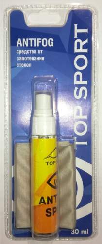Жидкость-спрей Antifog Top Sport с салфеткой 30 мл