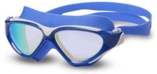 Очки для плавания (полумаска) INDIGO GRASSHOPPER зеркальные S991M Синий