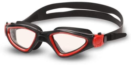 Очки для плавания INDIGO SNAIL S2937F Черно-красный