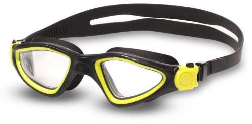Очки для плавания INDIGO SNAIL S2937F Черно-желтый