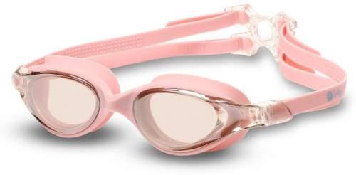 Очки для плавания INDIGO DRAGONFLY зеркальные S999M Розовый