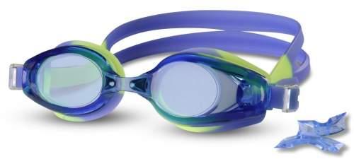 Очки для плавания INDIGO сменная переносица 1203 G Сине-желтый