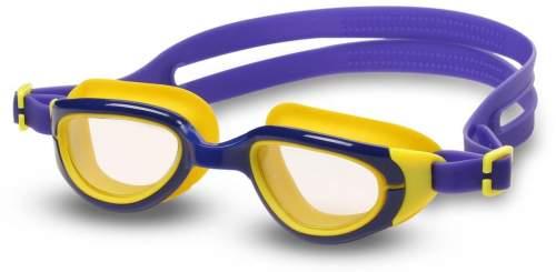 Очки для плавания детские INDIGO BERRY S2930F Сине-желтый