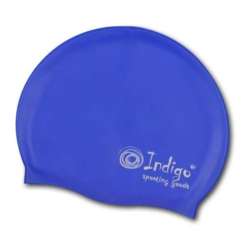 Шапочка для плавания силиконовая INDIGO однотонная 103 SC Синий