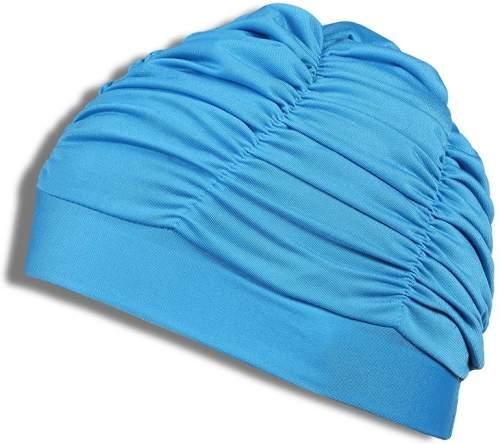 Шапочка для плавания ткань LUCRA SM женская с драпировкой SM-092 Бирюзовый